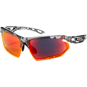Rudy Project Fotonyk Gafas, crystal graphite/mandarin/multilaser red